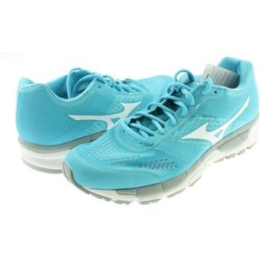Womens Synchro MX Running Shoes Blue Atoll/White